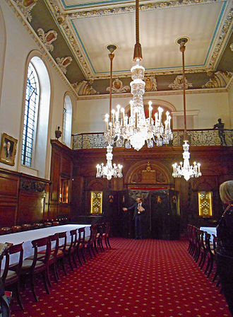 Worshipful Company of Vintners - Function room in Vintners' Hall