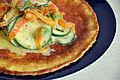 Flickr - cyclonebill - Omelet med squash, forårsløg, gulerødder og gedeost.jpg