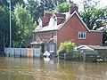 Flooded house, Reading Road, Winnersh - geograph.org.uk - 504307.jpg