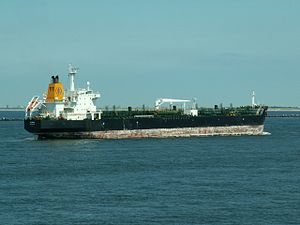 Flores IMO 9228801 approaching Port of Rotterdam, Holland 08-Jul-2006.jpg