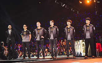 Fnatic - Fnatic on stage at the 2015 League of Legends World Championship semi-finals