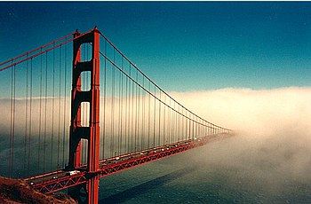 The Golden Gate Bridge in San Francisco, CA.