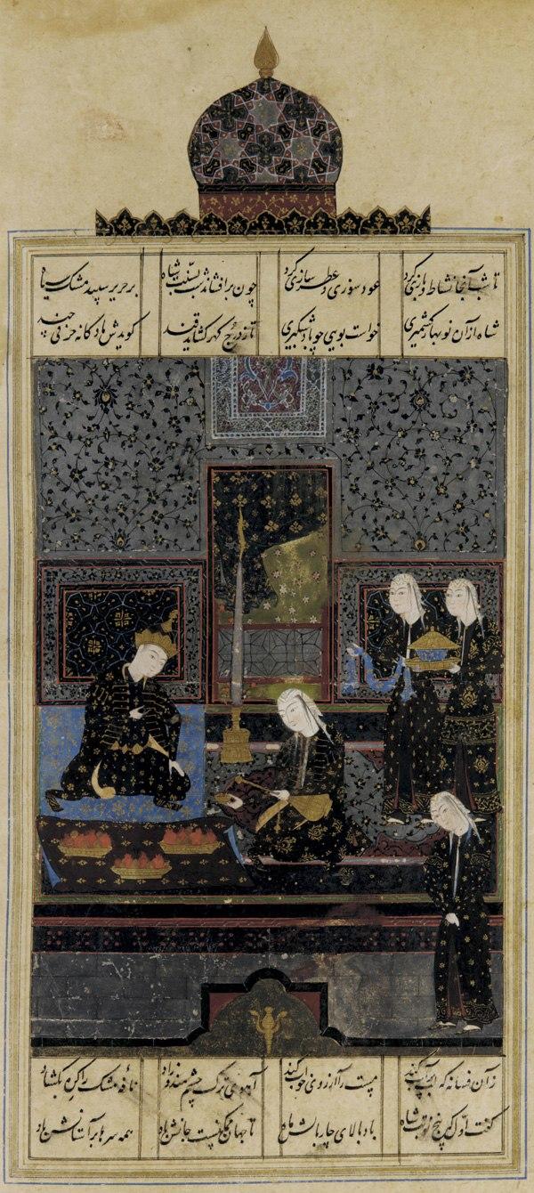 Folio from a Khamsa-c