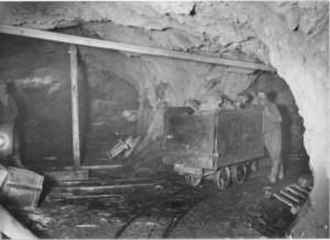 Folldal - Interior view of the Gammelgruva mine.