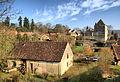 Fondremand - Huilerie-moulin avec sa roue à aubes au premier plan.jpg