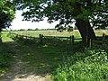 Footpath junction near Gables Farm - geograph.org.uk - 1302917.jpg