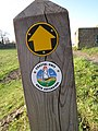 Footpath marker by the River Dee - geograph.org.uk - 1131343.jpg