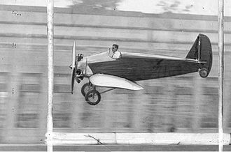 Ford Flivver - Harry Brooks piloting the first Ford Flivver, c. 1927
