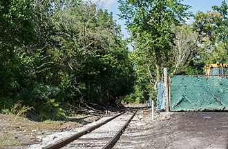 Cleveland Commercial Railroad - Former Connotton Valley tracks, now leased by the CCR, at Miles Avenue and E. 104th Street in Cleveland, Ohio