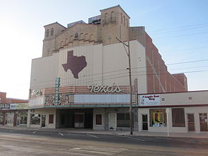 Tom Green County, Texas - Former Texas Theater in downtown San Angelo