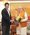 Former cricketer Anil Kumble meets PM Modi.jpg