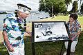 Former sailor visits USS Nevada wayside exhibit 121206-N-WX059-100.jpg