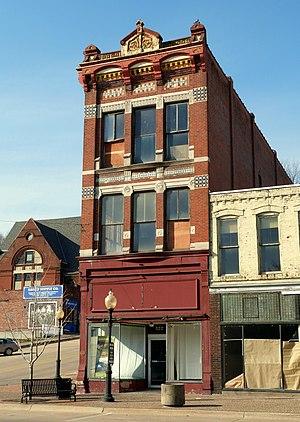 Downtown Commercial Historic District (Burlington, Iowa) - Image: Forney & Mellinger Block West Burlington Iowa