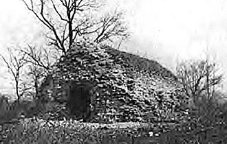 Fort de Chartres - The fort's powder magazine prior to restoration.