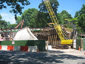 Fort Canning Tunnel - Fort Canning Tunnel under construction in May 2006