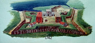 Fort Frederica National Monument - Image: Fort Frederica 1742