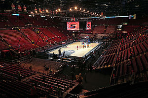 Das Mediolanum Forum während des Final Four der ULEB Euroleague 2013/14