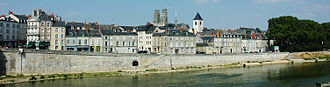 Orléans - The Loire bursting its banks at Orléans