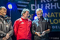 Francis Joyon, Lionel Lemonchois, Loick Peyron Route du Rhum 2014.jpg