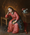 Francisco de Zurbarán - The Child Virgin Asleep.png