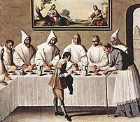 San Hugo en el refectorio de los Cartujos, 1630-1635 (262 x 307 cm.), Museo de Bellas Artes Sevilla