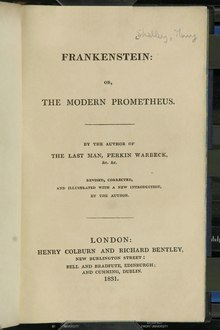 Frankenstein, or the Modern Prometheus (Revised Edition, 1831).djvu
