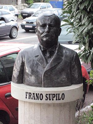 Frano Supilo - Bust of Frano Supilo in Rijeka