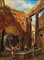 Franz Alt Rom Portico di Ottavia mit dem alten Fischmarkt.jpg