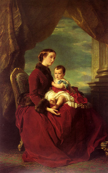 File:Franz Xavier Winterhalter-The Empress Eugenie Holding Louis Napoleon.jpg