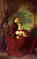 Franz Xavier Winterhalter-The Empress Eugenie Holding Louis Napoleon.jpg