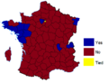 French European Constitution referendum, 2005 results by departament (Metropolitan), 2005.png