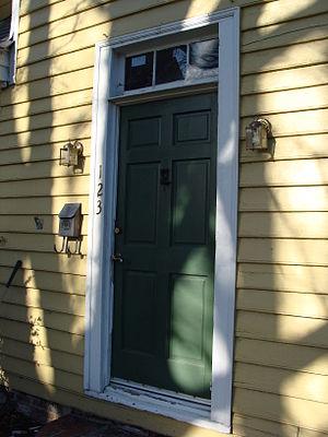 Wentworth–Grinnan House - Front door, in 2012
