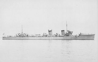Japanese destroyer <i>Fumizuki</i> (1926) Mutsuki-class destroyer of the Imperial Japanese Navy sunk at Truk