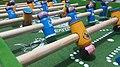 Futbol de mesa artesanal del Cruz Azul vs. América 01.jpg
