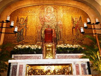 Altar of repose - Altar of repose in Manila Cathedral, Philippines, 2014.