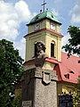 Gądków Wielki church and Kościuszko statue.JPG