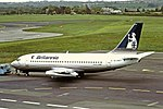 G-BHWF Boeing 737-200 Britannia Newcastle 01-06-1991 (35396810812).jpg