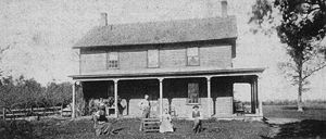 This photo is of the Gibbs family farm house c...