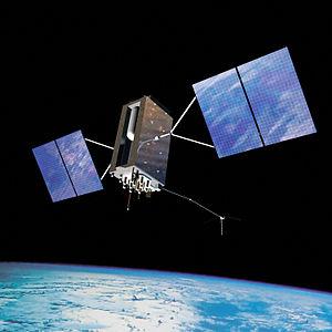 GPS Block IIIA - Artist's impression of a GPS Block IIIA satellite in orbit