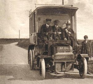 GWR road motor services - AF84 working a service from Helston to the Lizard in 1904
