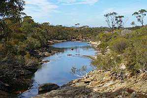 Gairdner River (Great Southern, Western Australia) - Gairdner River near West Mount Barren