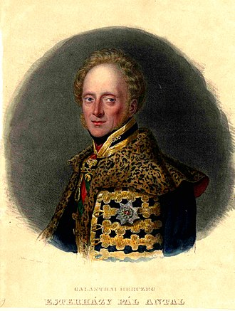 Paul III Anton, Prince Esterházy - Image: Galánthai herceg Esterházy Pál Antal