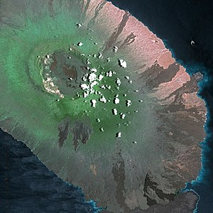 Galápagos Islands - Isabela seen from Spot Satellite.