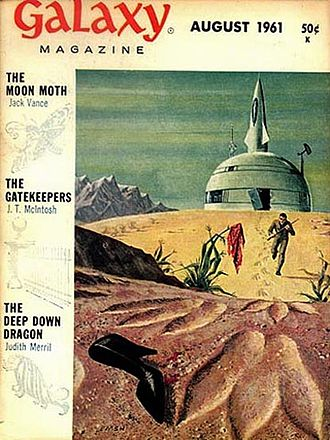 "Judith Merril - Merril's ""The Deep Down Dragon"" was the cover story for the August 1961 issue of Galaxy Science Fiction"