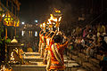 Ganga Aarti in evening at Dashashwamedh ghat, Varanasi.jpg