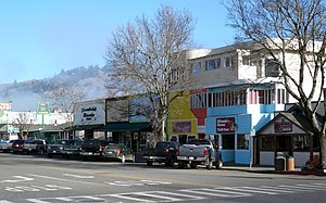 Garberville, California - Downtown Garberville has a retail district.