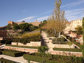 Gardens at Alcazaba of Almeria.jpg