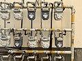 Gas meters in Meng-Zhu Public House Community in Hsinchu.jpg