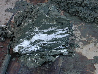 Methane clathrate - Gas hydrate-bearing sediment, from the subduction zone off Oregon