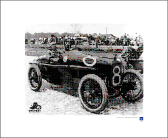 Monroe (automobile) - Gaston Chevrolet posing in a Monroe after a victory (1921)